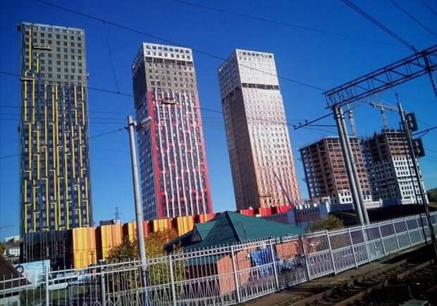 32-этажные башни ЖК Тетрис в Красногорске