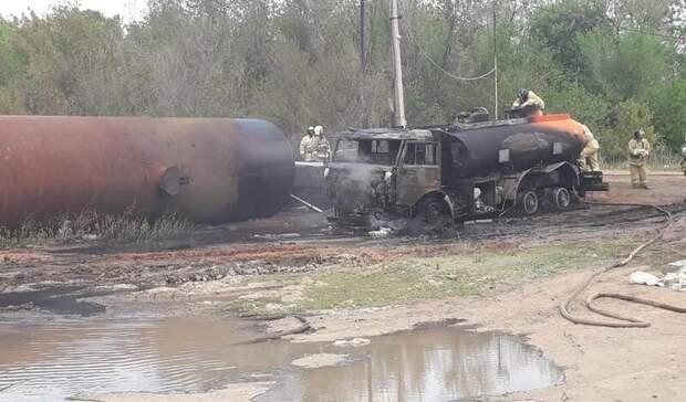 Вполиции назвали причину возгорания нефтевозов назаправке вНовосергиевке