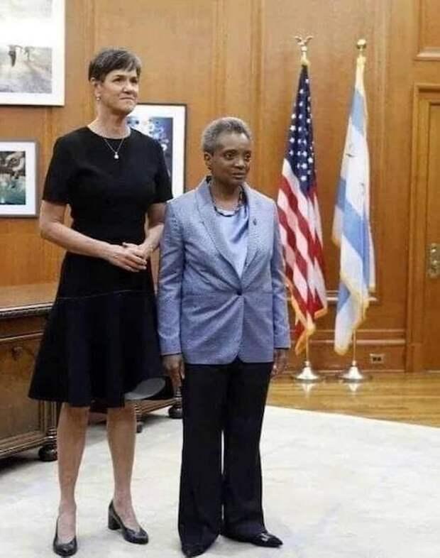 Мэр Чикаго с женой