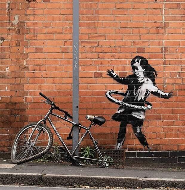 Новая работа Бэнкси появилась на салоне красоты в британском Ноттингеме