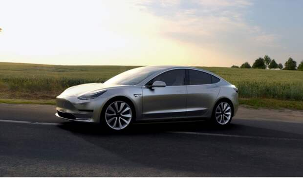 Tesla Model 3 – новый электромобиль из Калифорнии.