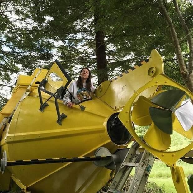 Необычная идея дизайн, креатив, недвижимость, подводная лодка, сделай сам, талант