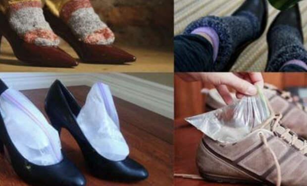 Кладем картошку в обувь: растягиваем до нужного размера без труда