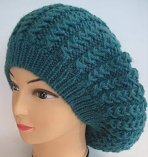 Красивые узоры спицами для шапки и берета