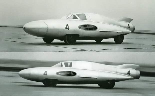 ГАЗ-ТР — первый в мире автомобиль с реактивным двигателем ГАЗ-ТР