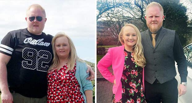 Они сбросили 62 кило после того, как в сети посмеялись над их свадебными фотографями диета, лишний вес, похудение