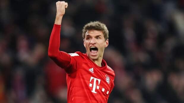 Дубль Мюллера и гол 17-летнего Мусиалы принесли «Баварии» ничью в матче с «Лейпцигом». У Комана 3 ассиста