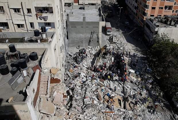 Израиль ударил по военным целям в штабе разведки ХАМАС в секторе Газа