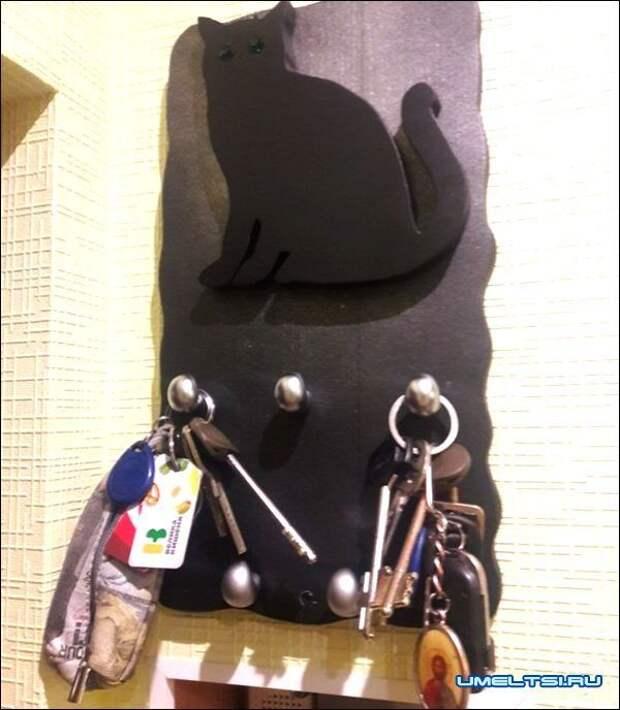Настенная ключница своими руками из подручных материалов
