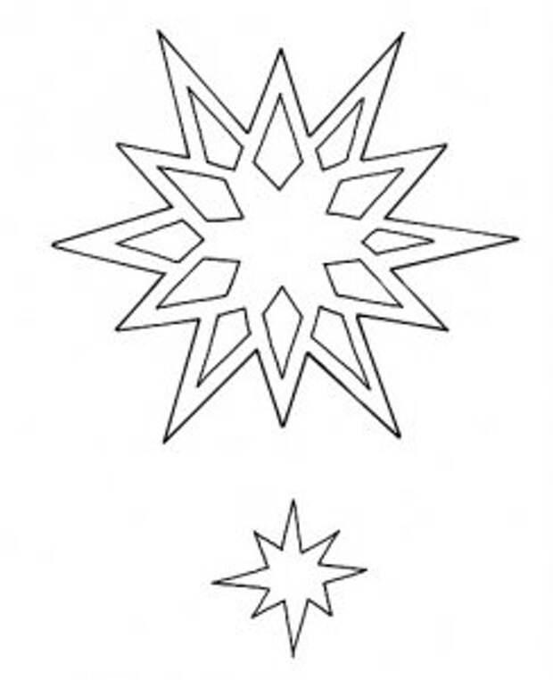 Новогодние и рождественские шаблоны на окна в технике вытынанка