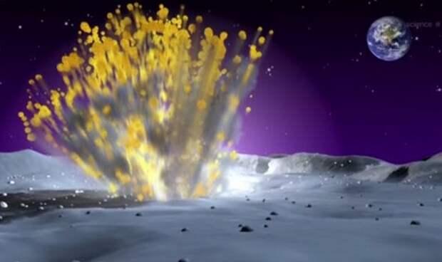 Метеоритные бомбардировки Луны удивили ученых