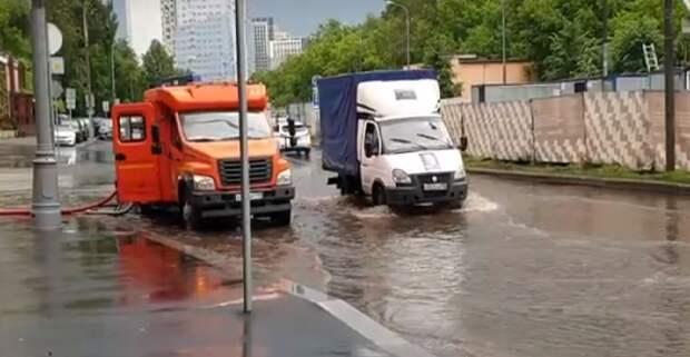 Подтопление на Карамышевской набережной ликвидировано — Жилищник