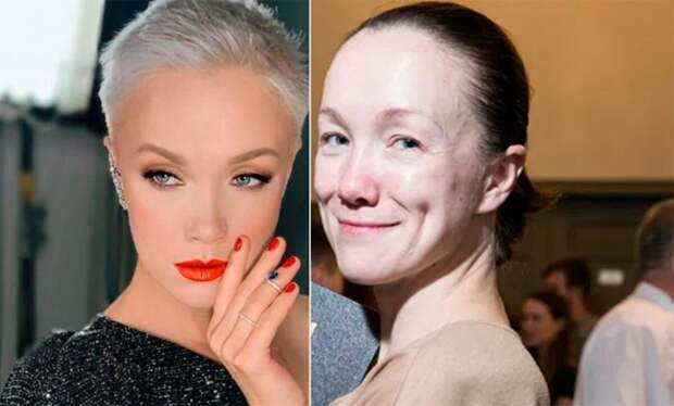 Российские звёзды, которым лучше не выходить на улицу без макияжа