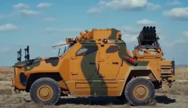 В Турции разработали новую мини-РСЗО на базе MRAP Vuran