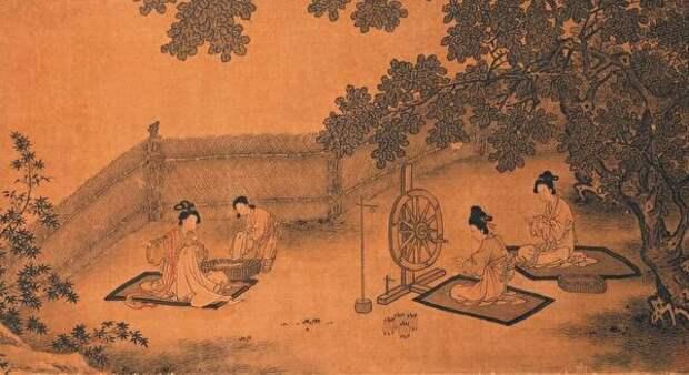 Фрагмент картины о дочерней почтительности, Ма Хэчжи, династия Южная Сун