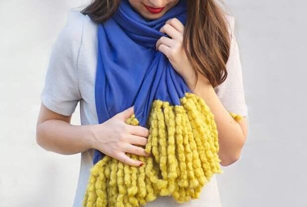 Эффектный шарф без шитья и вязания: стильная обновка за 15 минут