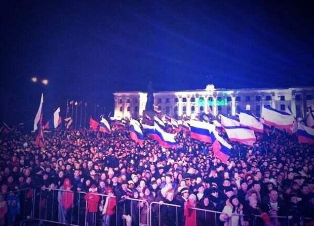 Симферополь, российские флаги|Фото: @maximus2575