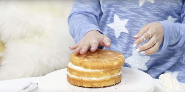 Торт с простейшей зеркальной глазурью. Получится у всех, кто захочет попробовать