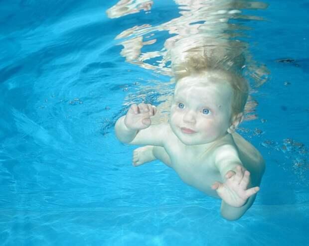 Удивительные фотографии детей под водой