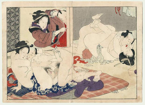 Целоваться запрещено: история секса в древней Японии