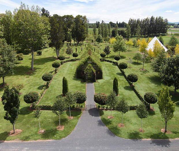 Церковь из живых деревьев, построенная простым фермером