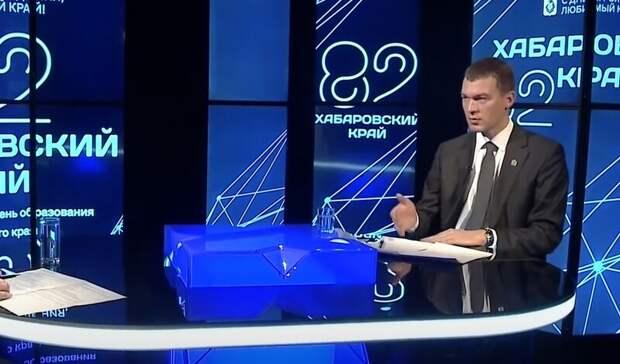 Михаил Дегтярев выступил с отчетом перед депутатами Хабаровского края