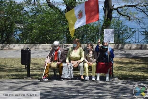 Одесситы возобновили борьбу по возвращению Русского мира на Украину