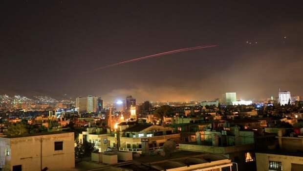 ПВО Сирии отражают израильскую ракетную атаку в провинции Дамаск