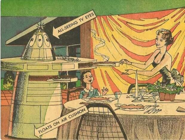Робот, который приготовил и подал еду, а перед этим вымыл весь дом (комиксы Артура Радебо)