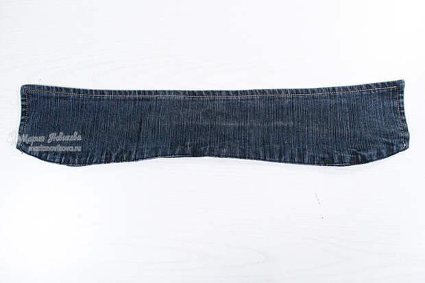 Старый воротник от джинсовки