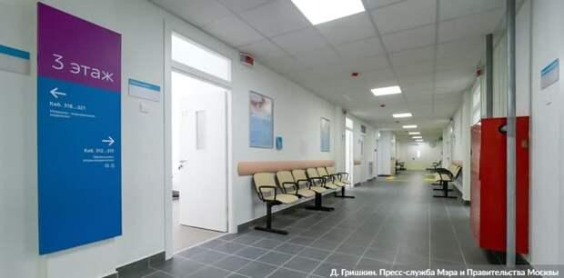 Собянин открыл после реконструкции поликлинику на улице Теплый Стан Фото: Д. Гришкин mos.ru