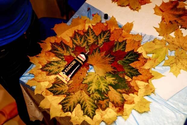 Осенние листья в интерьере