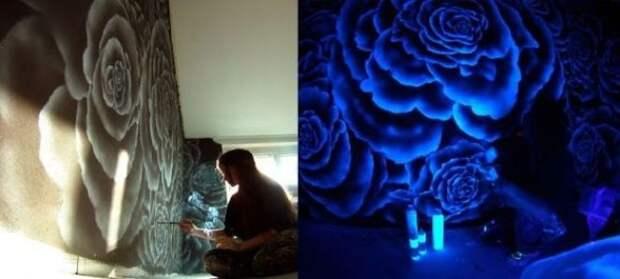 Светящиеся обои в современном интерьере (77 фото)