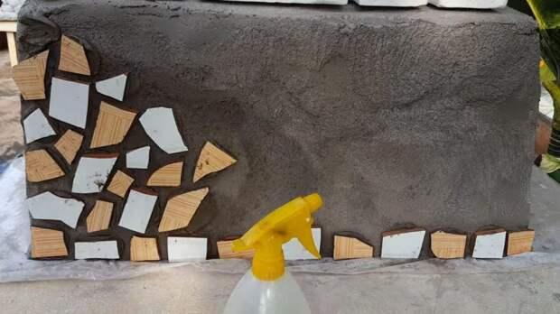 Любопытный метод декора сада из пластиковой корзины