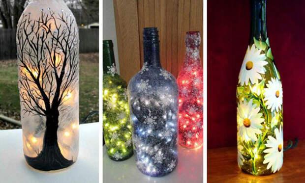 Креативные идеи для использования стеклянных бутылок после праздников