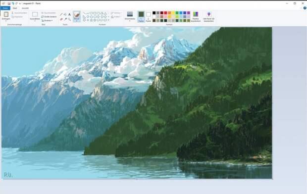 Художник рисует невероятные картины в Paint: 7 пейзажей современного искусства