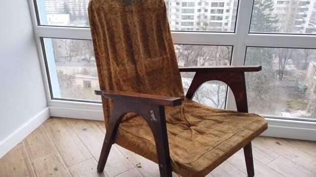 Потрясающая реставрация советского кресла 1970 года