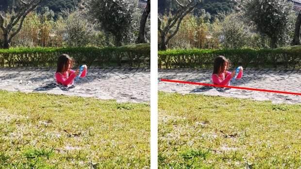 """Оптическая иллюзия с девочкой """"в бетоне"""" поразила Сеть"""