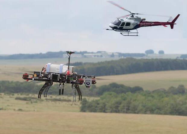 Британцы провели совместные испытания дрона и пилотируемого вертолета