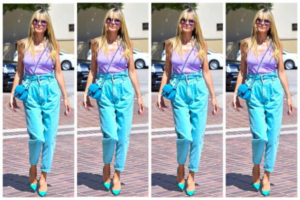 Как носить контрастные цвета: учимся у Хайди Клум...