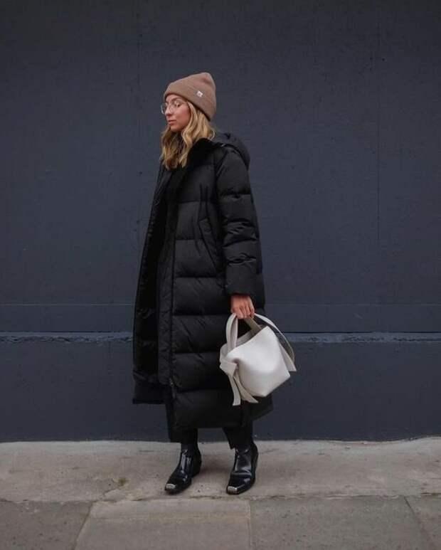 10 способов составить модный образ с дутым пальто