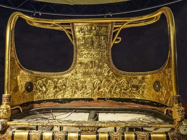 Мастерство Древнего Египта. Золотая колесница из гробницы Тутанхамона Древний Египет, Тутанхамон, Колесница, Золото, Чеканка, Длиннопост