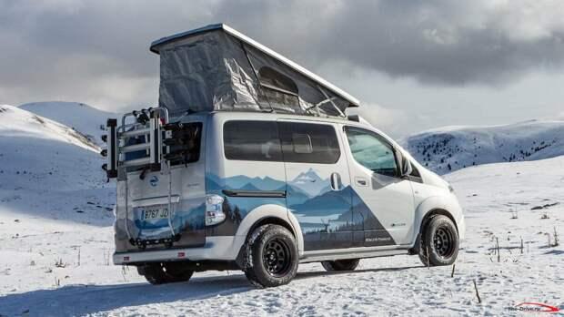 Электрический автомобиль для кемпингов - Nissan e-NV200 Winter Camper