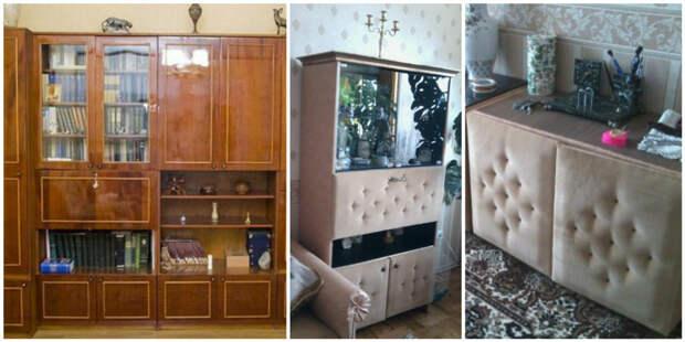Сделав ремонт, владельцы не смогли расстаться с привычной мебелью и решили дать ей второй шанс мебель, новая жизнь, переделка, старье