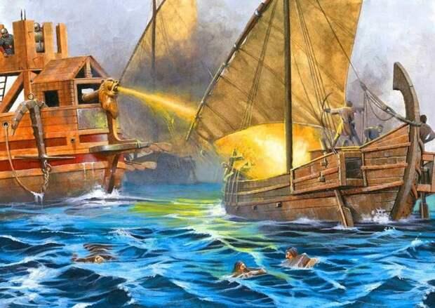 Греческий огонь. Напалм Средневековья