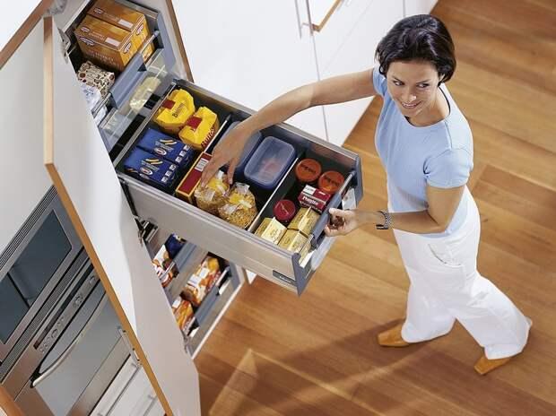 Уборка в кухонных шкафчиках