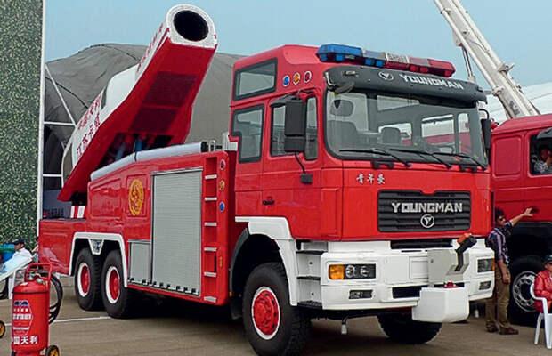 Пожарная машина с газотурбинным насосом