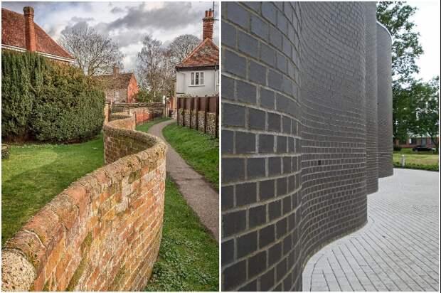 При планировании строительства, подумайте, сколько кирпича и средств можно сэкономить, сделав стену/забор волнистыми. | Фото: realruth.wordpress.com/ boredpanda.com.