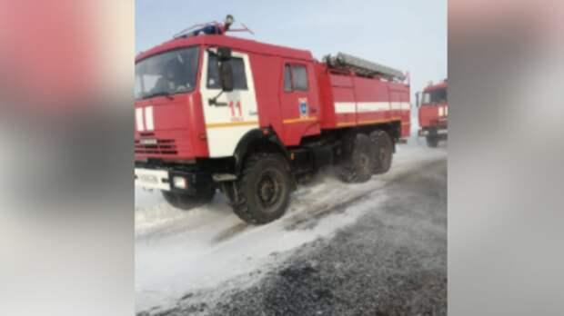 Кадры с места взрыва на газопроводе под Оренбургом