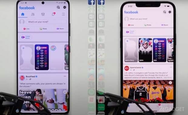 Состоялся очный поединок флагманов Galaxy S21 Ultra и iPhone 12 Pro Max